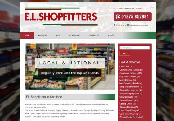 EL Shop Fitters web design