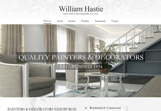 WH Painters web design