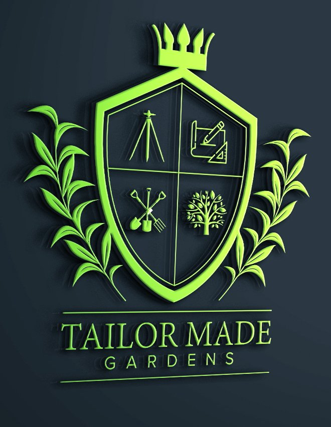Tailor made gardens logo design